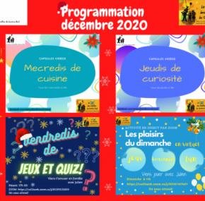 Programmation décembre 2020