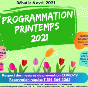 Programmation Printemps 2021