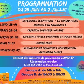 Programmation du 28 juin au 2 juillet2021