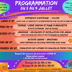 Programmation du 5 au 9 juillet2021