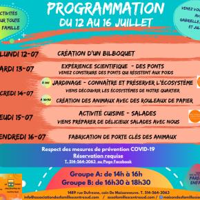 Programmation du 12 au 16juillet