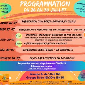 Programmation du 26 au 30juillet