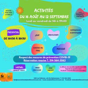 Programmation du 16 août au 12 septembre2021