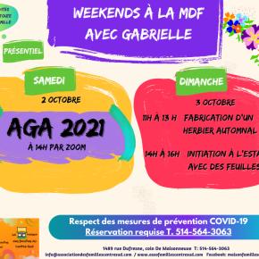 Weekends à la MDF 2-3 octobre2021