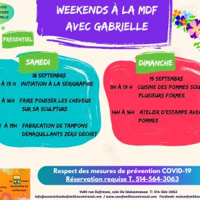 Weekends à laMDF
