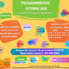 Programmation Octobre 2021